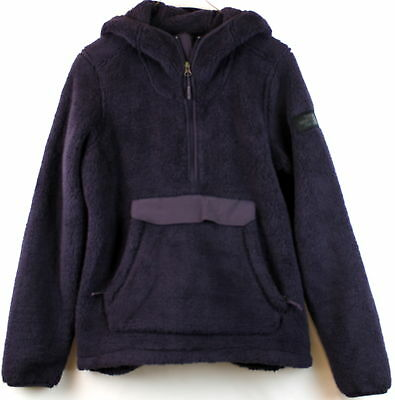 North Face Womens Cmpshire Hoodie Eggplant Relaxed Fit Size XL
