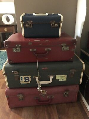 Nu Elite And Air Case Vintage School Travel Case Trunk. Collectable.