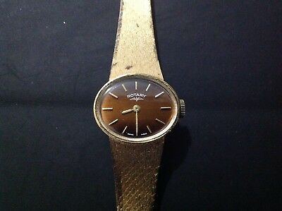 Vintage Rotary Swiss Made 17 jewels Mechanical Ladies Watch Working Excellent