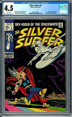 Silver Surfer #4 CGC 4.5 (W) Classic Cover Thor vs Surfer