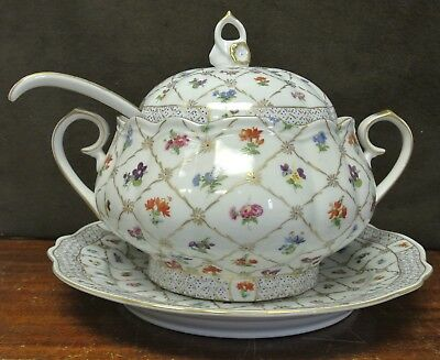 Heirloom by Toyo Lidded Tureen with Underplate and Ladle