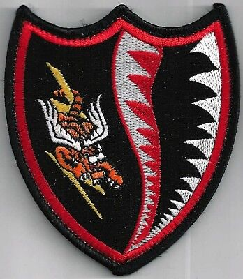 Usaf 23 Fighter Wg Patch -   Flying Tiger And Shark Teeth   Hook & Loop   Color