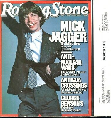 ROLLING STONES / Portraits / 1988 LIVE / JAGGER & KEITH Cover SATISFACTION MINT