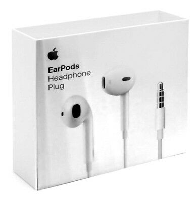 LOT of 2 NEW Apple Wired EarPods with 3.5mm Headphone Plug White MNHF2AM/A  OEM