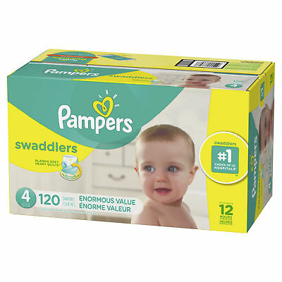 Pampers Swaddlers Diapers Size 4 120 Count