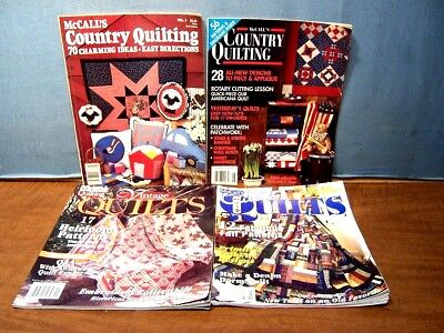 4 McCALL'S QUILTING MAGAZINES COUNTRY 1986 1991 VINTAGE QUICK 2001 PATTERNS LOT
