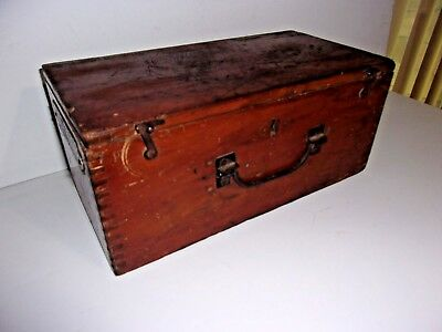 Vintage Tongue and Groove Wood Box With Rare Trade Mark