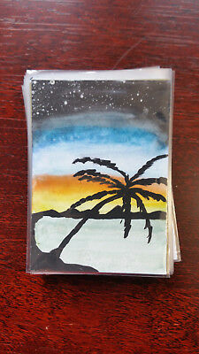 Aidan Baker Sketch Card Island Dreams 2018
