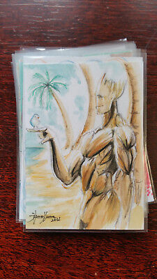 Bruno Junqueira Sketch Card Island Dreams 2018