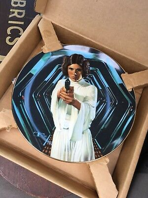 Princess Leia Star Wars Collectors Plate Hamilton Collection 1986