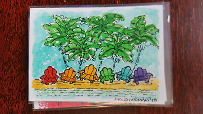 Greenwoman Sketch Card Island Dreams 2018