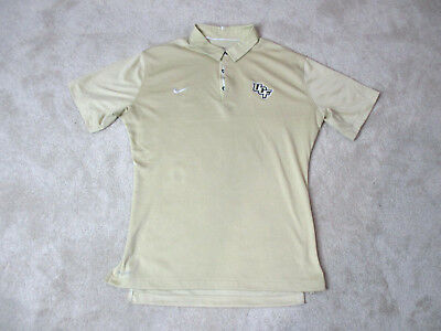 21eef390 NIKE University Central Florida Knights Polo Shirt Adult Large Gold UCF Dri  Fit