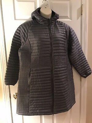 6d5b95f6b LL BEAN ULTRALIGHT 850 Down Fuse Jacket Pockets Zip Black Grey Men s ...