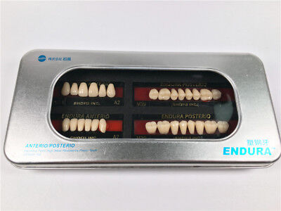 5-Box SHOFU ENDURA Dental Denture False Teeth Resin A2 Shade Size M30  28pcs/Box