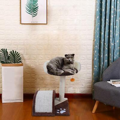 """19"""" Brown Pet Cat Tree Play House Tower Condo Bed Scratch Post Toy Balls"""