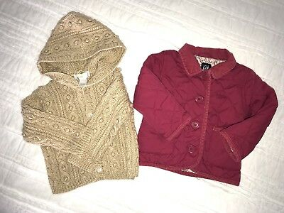 e552fe196ffc Baby Girl 12-18 Mos Janie   Jack Cable Knit Hooded Sweater + Baby Gap