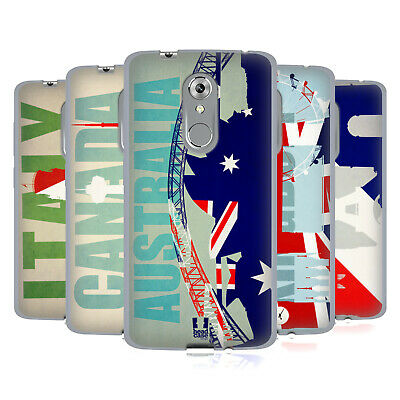 Head Case Designs Flags And Landmarks Soft Gel Case For Zte Phones