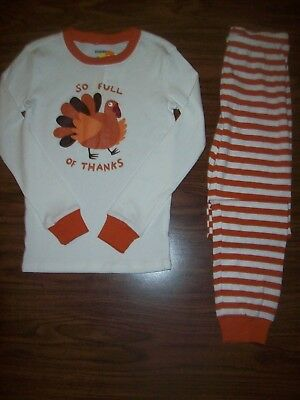 Little Girls or Boys Gymboree 2-Pc Pajamas - Size 10 - NEW  NWT - THANKSGIVING