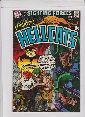 OUR FIGHTING FORCES #122 VF, Lt. Hunter's Hellcats, Joe Kubert cvr, Fred Ray art