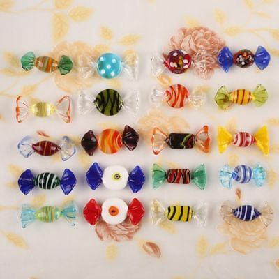 12/20pcs Vintage Murano Glass Sweets Xmas Wedding Party Candy Decorations Gift