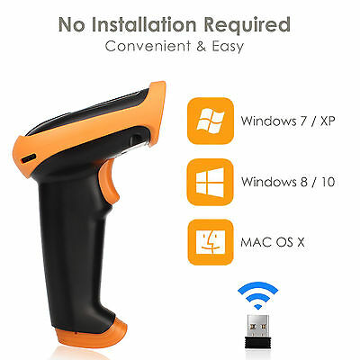 Wireless USB Wired Barcode Scanner Bar Code Reader Scanner Supermarket Reader