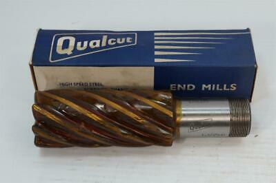 "6-Flute UK New Qualcut 1-3//4/"" No5670 M42 Hss Roughing End Mill 1-1//4/"" Shank"