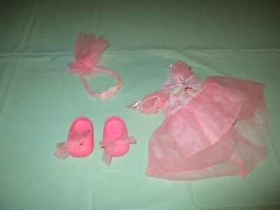 GALOOB Vintage 1990's Baby Face Doll FASHION Outfit & Shoes GOIN' TO THE BALL