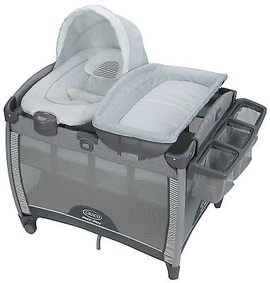 Graco Baby Pack 'n Play Quick Connect Portable Bouncer Bassinet Playard Raleigh