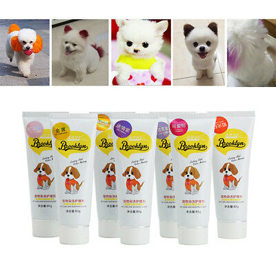 80g Pet Dog Hair Color Dye Coloring Dyeing Harmless Natural Dyeing Agent Safe Li