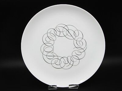 """Vintage Mid-Century Rosenthal Continental China SCRIPT 10.5"""" Large Dinner Plate"""