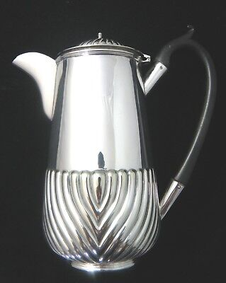 PERFECT  EDWARDIAN / ART DECO SILVER PLATE COFFEE POT by J. B. CHATTERLEY