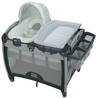 Graco Baby Pack 'n Play Quick Connect Portable Bouncer Bassinet Playard Albie