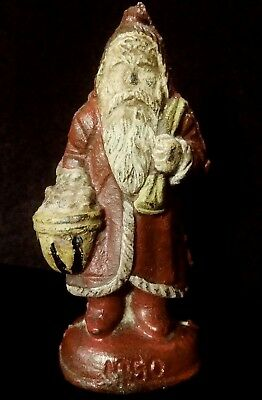 Cast Iron Antique Hubley Santa Claus Christmas Figural Doorstop Rare Decor 1920s