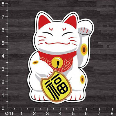 X1 Lucky Cat Kitten DIY Graphics Decals Stickers Decor For Notebook Luggages D