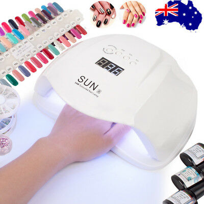 54W SUNX LED UV Nail Lamp Light Manicure Nail Art Dryer Curing Gel Polish Gifts