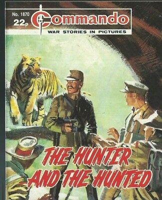 The Hunter And The Hunted,commando War Stories In Pictures,no.1870,comic,1985
