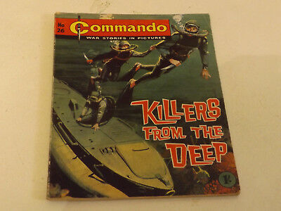 Commando War Comic Number 26 !!,1962 Issue,v Good For Age,56 Years Old,v Rare.