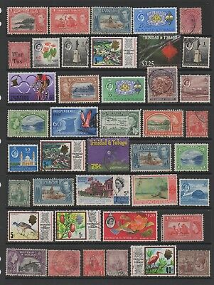 Trinidad & Tobago  - Sheet of mint and used stamps as per scan (3004)