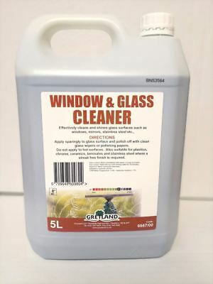 Window & Glass Cleaner also Cleans Mirrors Stainless Plastics Steel 5 ltrs