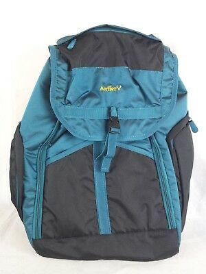 Antler laptop rucksack black / metallic turquoise travel, work 55 cm H