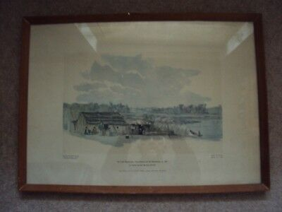 Vintage Framed Limited Edition Picture Of Lake Papaitongo New Zealand