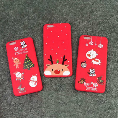 1x Coque Housse Etui Protection Silicone Pour iPhone 8 8 Plus X XR XS Max Noel