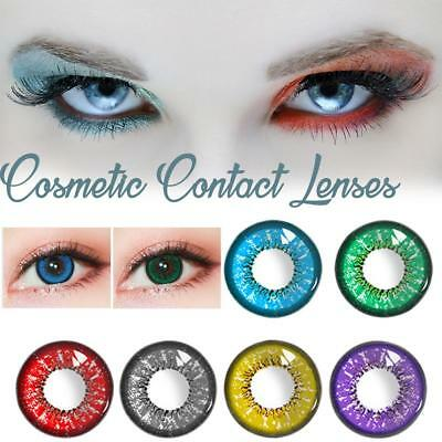 1 Pair Of 6 Colour Halloween Carnival Cosplay Colorful Cosmetic Contact Lenses