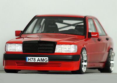 "1:18 OttO ""W201 MERCEDES-BENZ 190E Cosworth AMG MODIFIED TUNING UMBAU 190 Brabus"