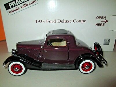 A DANBURY MINT PAPERWORK SET 1933 FORD DELUXE COUPE