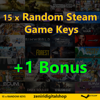 15 x Random Steam Game Keys + 1 Bonus ✅REGION FREE