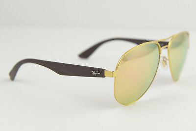 93732c0b127 USED RAY-BAN AVIATOR pilot brown gold sunglasses RB 3523 112 2Y 59 ...