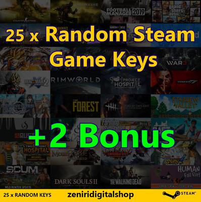 25 x Random Steam Game Keys + 2 Bonus ✅REGION FREE
