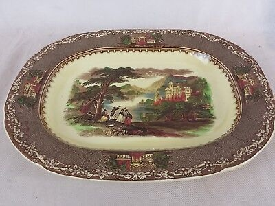 Royal Staffordshire Pottery England Jenny Lind 1795 Large serving platter