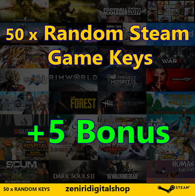 50 x Random Steam Game Keys + 5 Bonus 🔥 Value up to $90 ✅REGION FREE